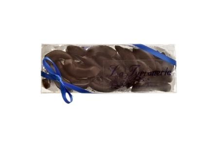 Naranja confitada cubierta de chocolate