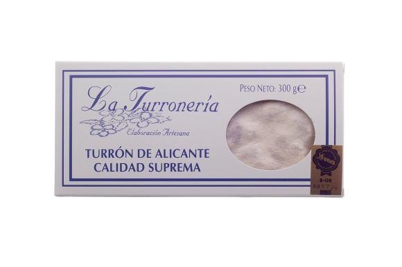 Tableta de turrón de Alicante